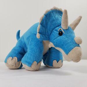 "Animal Adventure Triceratops 13"" Plush Blue Stuffed Animal Toy Dinosaur"