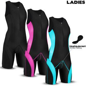 Ladies Triathlon Suit Cycling Running Compression Tri Suit CoolMax Padding