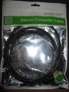 UGreen Deluxe Computer Cable - 6 ft. Cable Premium Displayport Black
