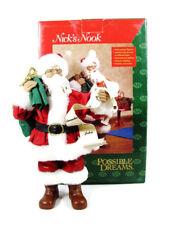 "POSSIBLE DREAMS Nick's Nook 4209 Santa's A List Christmas Figurine 9"" Orig Box"