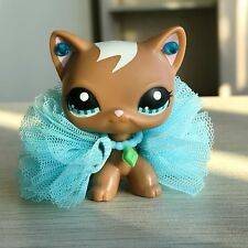 Littlest Pet Shop Lps Short Hair Cat #1170 Brown Tan + Accessories Authentic