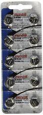 10 Pcs Maxell LR44 Mercury Free Alkaline Batteries
