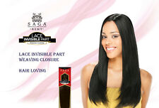 "Shake N Go Milky Way SAGA Remy Hair Lace Invisible Part Weaving Closure 10""/12"""