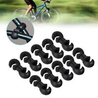 10PCS Bicycle Bike Cycle MTB S-Clips Buckle Hose Brake Gear Cable Housing Guides