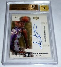 2002 - 03 AMARE STOUDEMIRE Rookie Card SP Game Used Autograph Rc BGS Gem 9.5 🔥