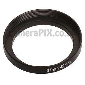 37mm to 42mm 37-42mm 37mm-42mm 37-42 Stepping Step Up Filter Ring Adapter UK