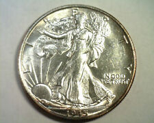 1945-S WALKING LIBERTY HALF CHOICE ABOUT UNCIRCULATED+ CH AU+ NICE ORIGINAL COIN