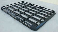 127x96cm  Black Coated Aluminium Car/4WD Roof Rack Luggage Basket + 2xCross Bar