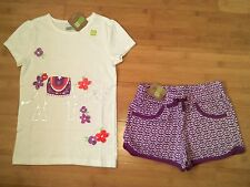 NWT CRAZY 8 Girls Size L 10 - 12 Elephant Outfit - Tee Top & Knit Shorts NEW