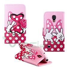 Custodia cover stand Topolina Hands rosa per Samsung Galaxy S4 mini i9195 case