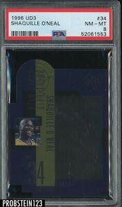 1996-97 Upper Deck UD3 Die-Cut #34 Shaquille O'Neal Lakers HOF PSA 8 NM-MT
