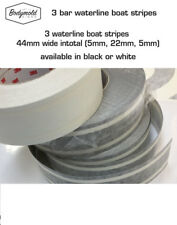 Traditional 3 Bar Waterline Boat Stripe WHITE