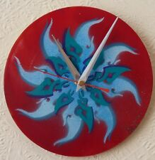 Funky record wall clocks. .tribal.. spray paint.. .7in records.... GLASTONBURY