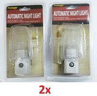 LOT OF 1x 2x AUTOMATIC NIGHT LIGHT PORTABLE WALL LAMP SENSOR ENERGY SAVER 120V
