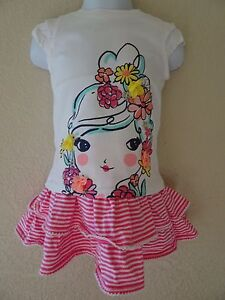NWT GYMBOREE SUGAR REEF SET SIZE 12 18 MONTHS SWING SKORT FLOWER GIRL TEE SKIRT