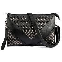 Women Rivet Stud Day Clutches Bag Evening Purse Wedding Party Shoulder Handbag