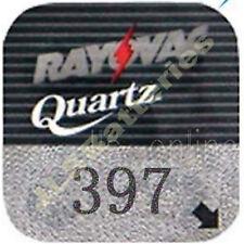 10 Rayovac 397 Quartz Watch Batteries SR726SW AG2 D397