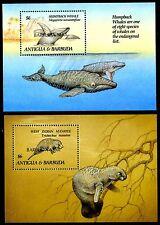 Barbuda 1401x, Mnh, Marine Life: West Indian Manatee Hupback Whale.1993. x9418