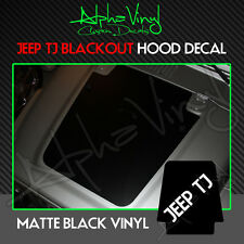 Jeep Blackout Hood Decal Matte Black Out w/ install kit Fits: Wrangler TJ 97-06