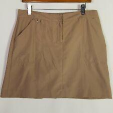 Izod Golf Skort Khaki Beige Womens Size 10