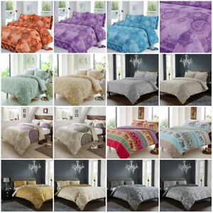 Paisley Damask Duvet Cover Bedding Quilt Luxury Bed Set Double Super King Size