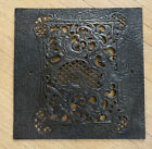 ANTIQUE CAST BRASS ORNATE FIREPLACE COVER DOOR