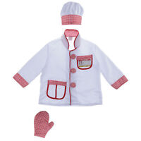Kids Chef Role Play Costume Set Chef Dress up Set for Children(90-125cm)