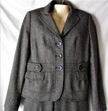 Women's Black Tweed Wool Blend Pantsuit Size 8P Ann Taylor