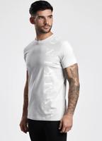 Gym King Mens New Designer Crew Neck Jersey Text Logo T-shirt Tee Top Microchip