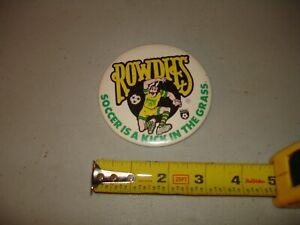 """Vintage 1970's Tampa Bay Rowdies NASL Soccer Pin, VG+, Rare 3 3/8"""""""