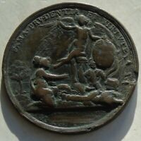 1757 Frederick the Great Medal Victory & Bohemia Scene 48mm 36.62g, scratch rev.