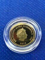 Elizabeth II 2012 Encapsulated Gold Half Crown