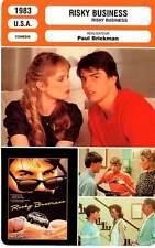 FICHE CINEMA : RISKY BUSINESS - Cruise,De Mornay,Pantoliano,Masur,Brickman 1983