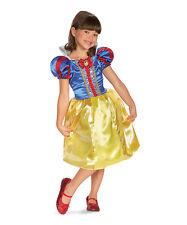 Snow White Sparkle Dress-Up Outfit Disney Princess Girls Small (4-6X) Halloween