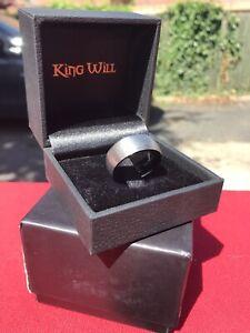 Mens Titanium 8mm Ring Size Q1/2