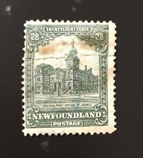 Stamps Canada Newfoundland SC158 28c grey green GPO of 1928, see.details.