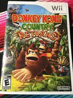 Nintendo Donkey Kong Country Returns (Nintendo Wii, 2010) Disc Only No Manual