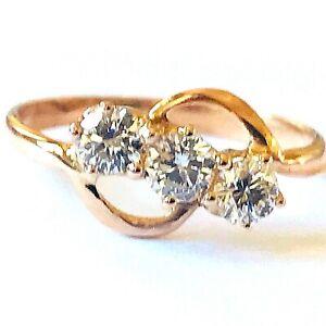 Diamonds 0.60ct. F-G Vs1-Vs2 Cocktail Ring 18k. Rose Gold UK Size K EU Size 50