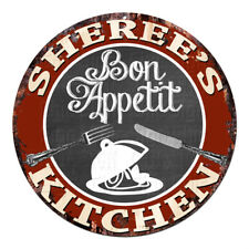 CPBK-0873 SHEREE'S KITCHEN Bon Appetit Chic Tin Sign Decor Gift Ideas