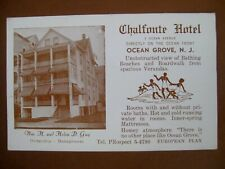 Vintage Promortional Postcard The CHALFONTE HOTEL, OCEAN GROVE NJ (at the beach)