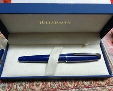 Waterman Charleston Füllfederhalter M Farbe blau Feder = 18 K 750