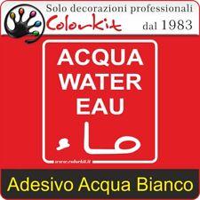 Adesivo Acqua Bianco su Sfondo Trasparente cm. 10x11 - 000188 by Colorkit
