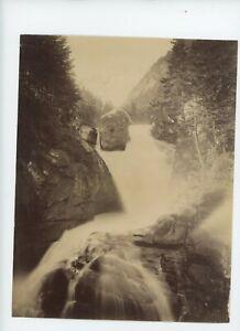 Vintage 8 x 10 Photo Cascade du Cerisey Pont D' Espagne. Spain