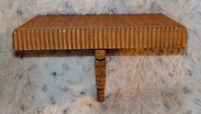 "Homco woven bamboo look wall shelf, 5"" x 7"", 5 1/4"" high, model 3323, made 1988"