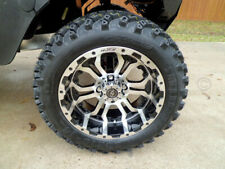 "14"" OMEGA MACH & BLACK WHEELS 23""  ALL TERRAIN TIRES GOLF CART LIFTED"