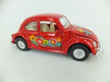 Welly VW 1303 Beetle flower power red car - in excellent condition