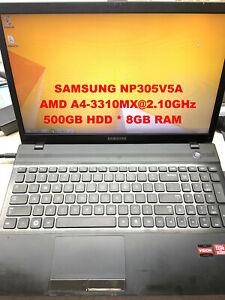 """SAMSUNG NP305V5A_AMD A4-3310MX@2.10GHz_500GB HDD_8GB RAM_15.6"""" Screen"""