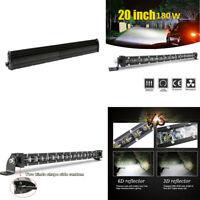 20'' 180W 18000LM Aluminum 6D Spot LED Work Light Bar Single Row Car SUV Lamp