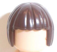 Lego Short Bob Female Hair x 1 Dark Brown for Minifigure