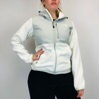 The North Face Denali Hooded Fleece Women's Small White Full Zip